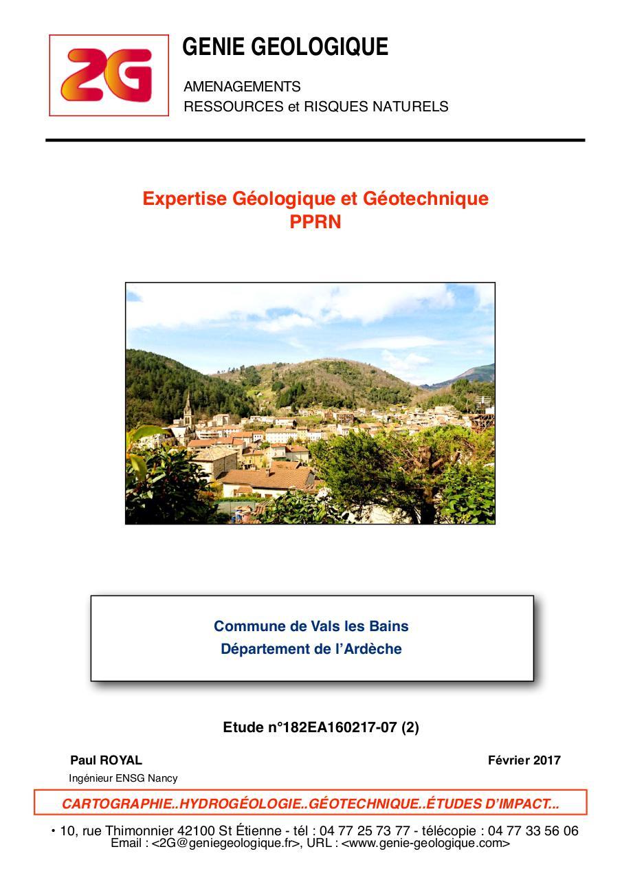 Recherche pdf sujet d examen de geologie for Garage etienne vals les bains