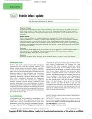 febrile infant update