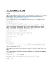 flt planning feedback 24 7 17