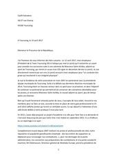 lettre procureur