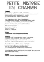 Fichier PDF petite histoire en chanson