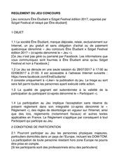 reglement concours 3 sziget 2