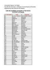 liste a afficher concours ecrit