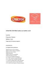 Fichier PDF recette sublime crumbleindien