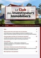 club des investisseurs immobiliers mai 2017
