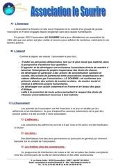 Fichier PDF presentation de l association le sourire