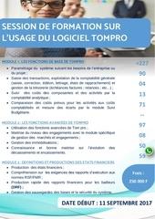 Fichier PDF details des modules sur tompro 2