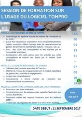 Fichier PDF details des modules sur tompro