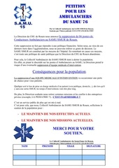 petition ambulanciers samu rouen 76