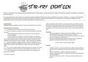 stir fry eighteen regles en francais