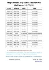 programme de preparation feminines 2017