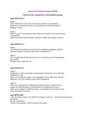 sujet dissertation français bfem