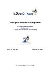 guide openoffive writer