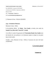 lettres aux chefs de service pour daaka du 13au 17mai 2017