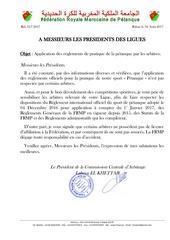 note ligues application reglements pratique petanque