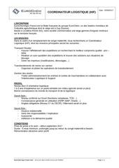 Fichier PDF annonce recrutement coordinateur logistique
