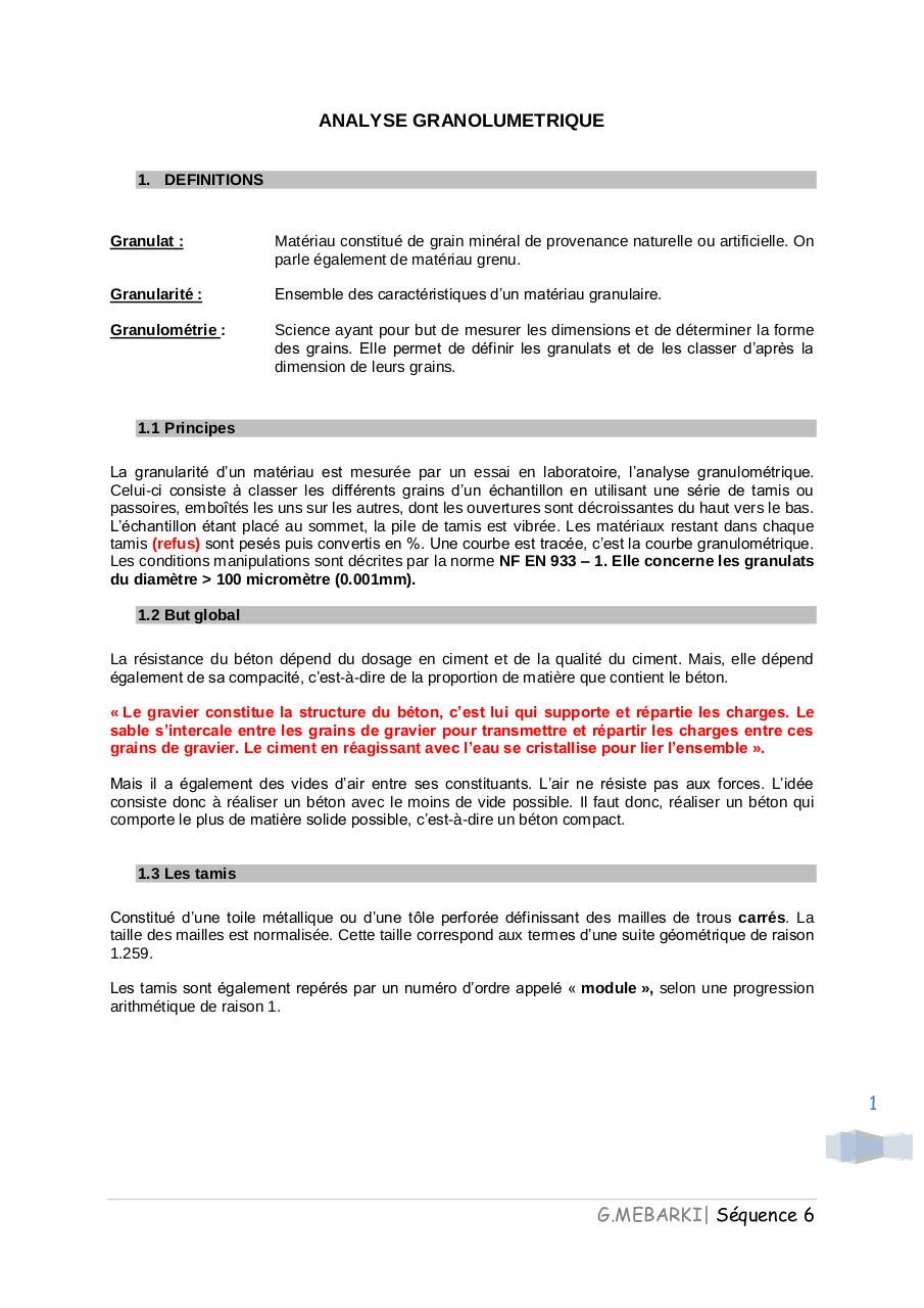 Aperçu du document Analyse granulométrie.pdf - page 1/9
