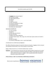 Fichier PDF fournitures scolaires pour les cm2