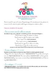 seance de yoga en maternelle