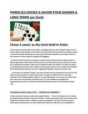 les maths du poker