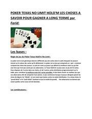 les maths du poker 1