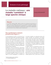 maladie coeliaque une pathologie cameleon