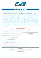 certificat medical 1