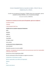 Fichier PDF fiche d inscription salon