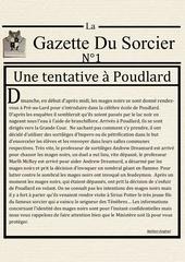 la gazette du sorcier n 1 2
