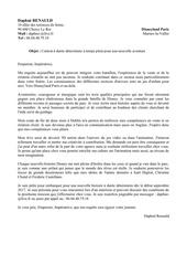 lettre de motivation disneyland paris