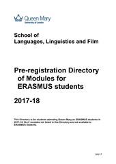 module directory 201718 erasmu