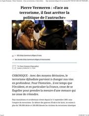 face au terrorisme arreter la politique de l autruche