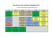 horaire de danse septembre 2017 1