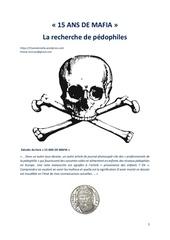 Fichier PDF 15 ans de mafia la recherche de pedophiles
