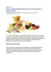 conseils nutritionnels pdf