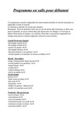 Fichier PDF training en salle pour homme debutant