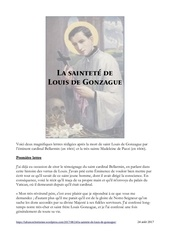 la saintete de louis de gonzague