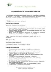 programme detaille de la formation rncp