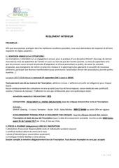 reglement interieur 2017 2018