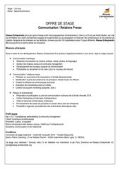 offre de stage communication rp 2017