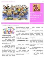 cabinet de kinesiologie reiki lyon newsletter n 8