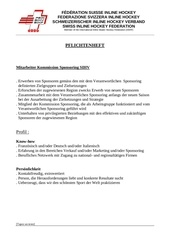 cahier des charges adjoint sponsoring d
