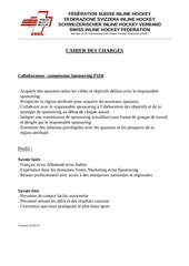cahier des charges adjoint sponsoring f