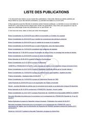 liste des breves par demetrius