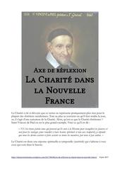 axe de reflexion la charite dans la nouvelle france