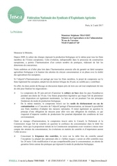 courrier ministre reglementation bio 2017