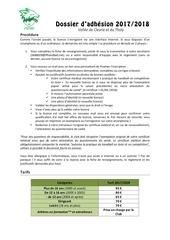 dossier d adhesion hbc 2017