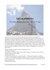les alpinistes conte chretien pour tous