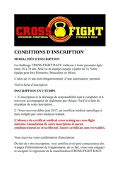 conditions dinscription cross fight race v1 2