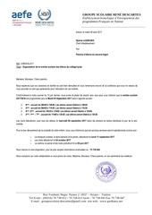 lettre de rentree college lycee 1